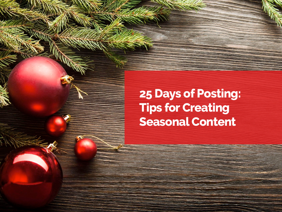 25 days of posting tips