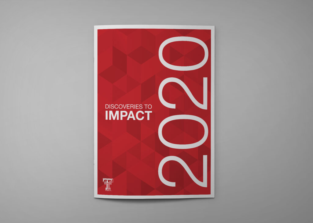 TTU Discoveries to Impact 2020 Cover Design