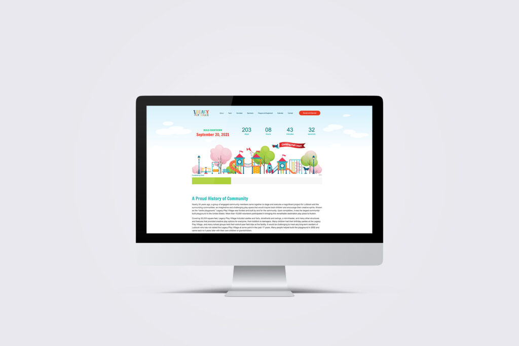 Legacy Play Village Website Design